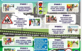 Правила дорожного движения для школьников