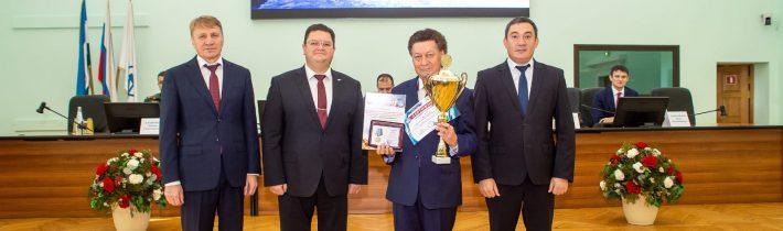 Церемония награждения победителей и призеров командного зачёта Олимпиады на Кубок имени Ю.А. Гагарина.