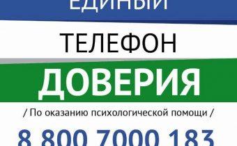 Телефон доверия 88007000183